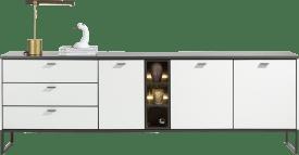 buffet 240 cm - 3-portes + 3-tiroirs + 1-niche (+ led)