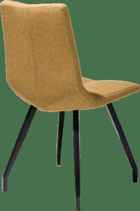 chair - 4 legs black - lavinia mustard / rust