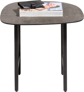 table d'appoint 45 x 45 cm. - aspect beton hpl