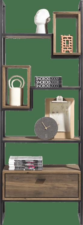 roomdivider 70 cm. - 1-lade t&t + 2-boxen + 4-nisches