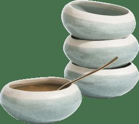 amalfi set of 4 bowls d14cm