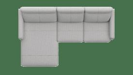 Longchair links - 2 Sitzer Armlehne rechts