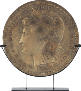 beeld roman coin