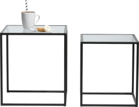 felix set of 2 side tables h45-40cm