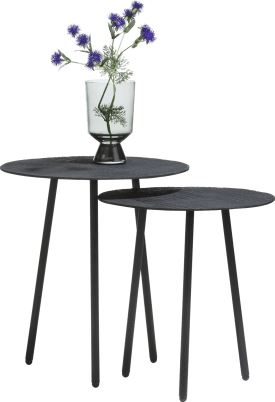 set de 2 tables d'appoint merle