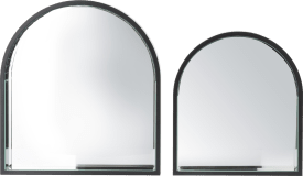 arch set of 2 mirrors