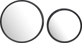 harry set of 2 mirrors d50-40cm