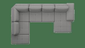 Longchair links - 2,5 Sitzer ohne Armlehne - Ottomane rechts