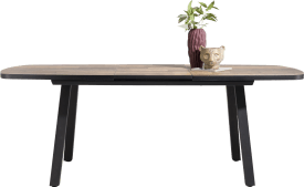 table de bar extensible ovale 190 (+ 60) x 110 cm