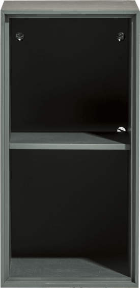 box 60 x 30 cm. - lackiert - zum aufhaengen + 2-nischen + led