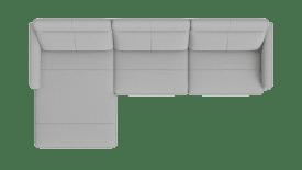 lonchair links - 3 Zits arm rechts