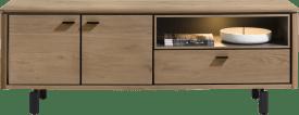 lowboard 170 cm. - 2-deuren + 1-klep + 1-niche