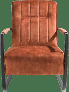 fauteuil met swing-frame metaal zwart