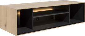 box 30 x 120 cm. - hout - hang + 4-niches + led