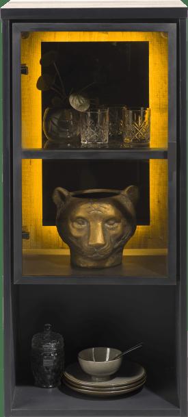 hang- en staand mogelijk - element 45 cm. - 1-glasdeur +1-niche (+ led)