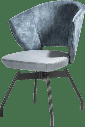 fauteuil - pivotant - cadre en metal + ressorts ensaches - combi karese/pala