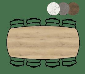 table ovale - 240 x 110 cm