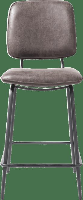 chaise de bar - cadre off black - tissu secilia