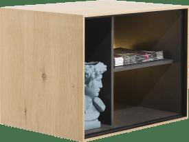box 45 x 60 cm. - holz - zum aufhaengen + 3-nischen + led