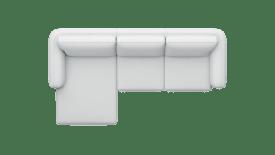 Longchair links - 2,5-Sitzer Armlehne rechts