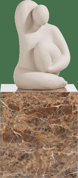marble look beistelltisch h50cm