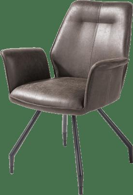 fauteuil - cadre noir + pieds - tissu secillia
