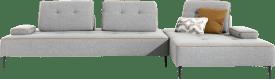 3-Sitzer Element - 2-Sitzer Element Ecke recht - Armkissen - Blockkissen gross - Rueckenkissen gross