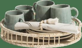 bamboo dienblad d36cm
