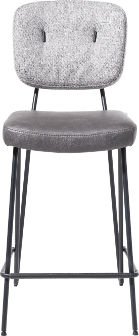 chaise de bar - cadre off black + ressorts ensaches