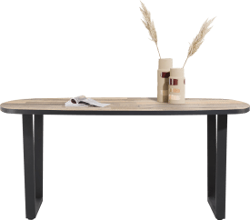 table de bar ovale 180 x 110 cm