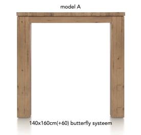 table de bar a rallonge 160 (+ 60) x 140 cm - aad