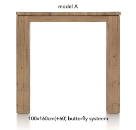 uitschuif-bartafel 160 (+ 60) x 100 cm - aad