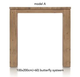 table de bar a ralonge 200 (+ 60) x 100 cm - aad