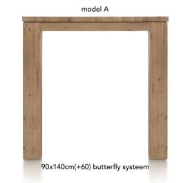 tresentisch ausziehbar 140 (+ 60) x 90 cm - aad
