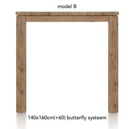uitschuif-bartafel 160 (+ 60) x 140 - ben