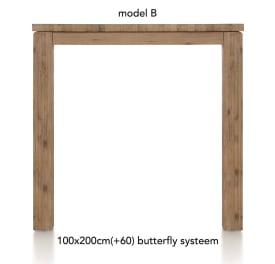 table de bar a rallonge  200 (+ 60) x 100 cm - ben