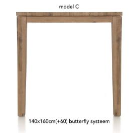 table de bar a rallonge 160 (+ 60) x 140 cm - cor