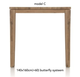 uitschuif-bartafel 160 (+ 60) x 140 cm - cor