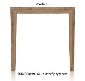 table de bar a rallonge 200 (+ 60) x 100 cm - cor
