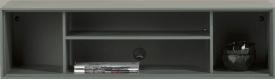 box 30 x 120 cm. + regal - lackiert - zum aufhaengen + 4-nischen + led