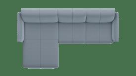 Longchair Links - 2 zits arm rechts