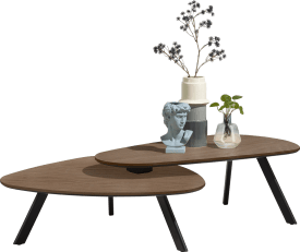 ensemble de 2 table basse - 90 x 90 cm + 110 x 60 cm