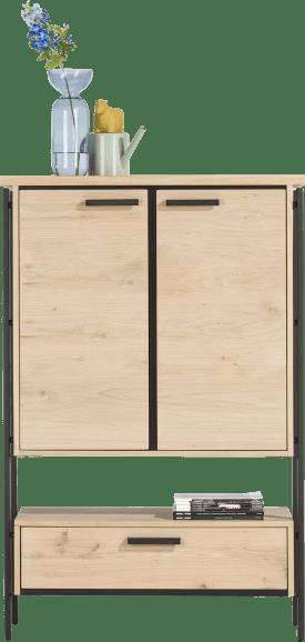 highboard 100 cm. - 2-deuren + 1-lade + 1-niche