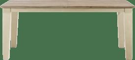uitschuiftafel 160 (+ 60) x 100 cm