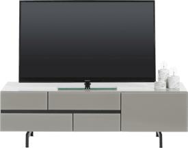 meuble tv 140 cm - 1-tiroir + 1-porte rabattante