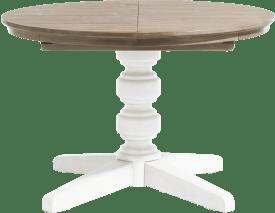 table a rallonge rond 120 cm (+ 50 cm)