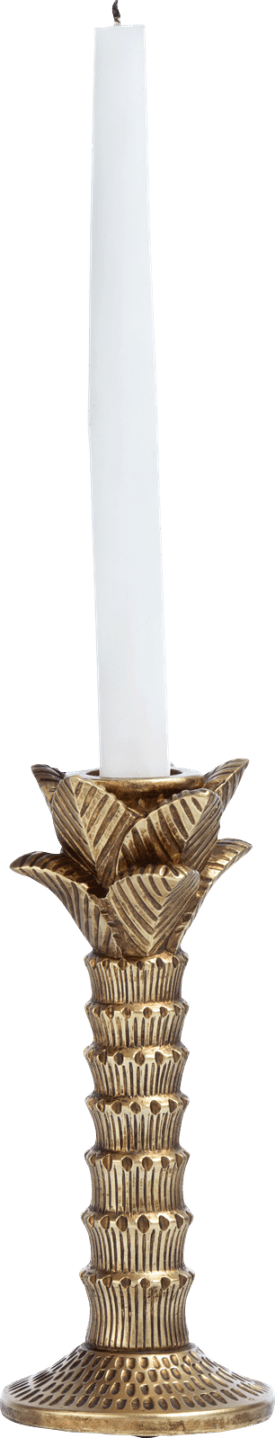 palm tree candle holder h21cm
