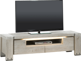 tv-dressoir 160 cm - 2-kleppen + 1-niche