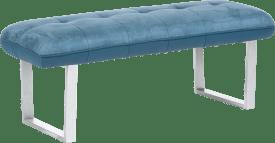 bank zonder rug + pocketvering - 130 cm