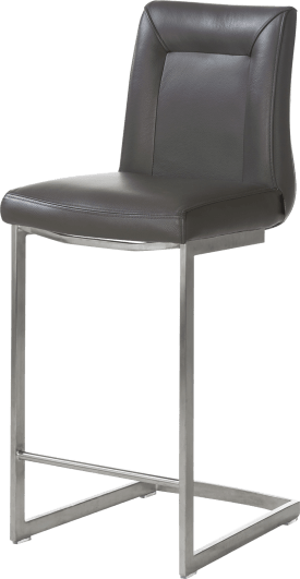 chaise bar - inox pied traineau carre